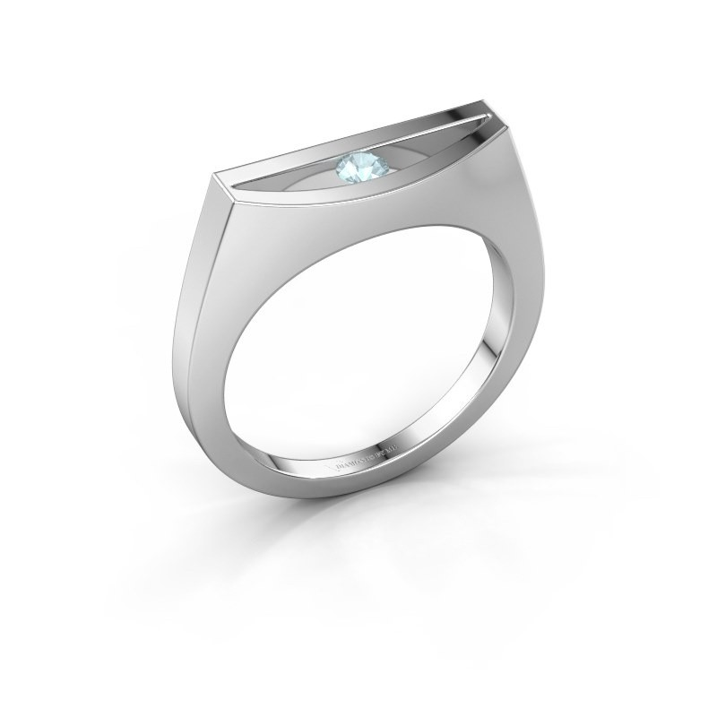 Ring Milou 950 Platin Aquamarin 3 mm