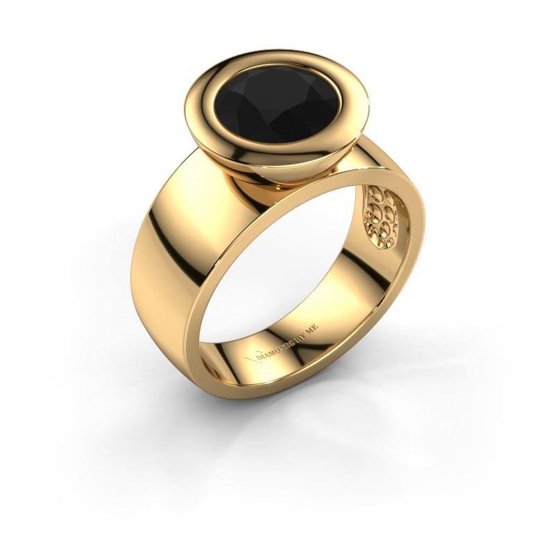 Ring Maxime 585 goud zwarte diamant 2.40 crt
