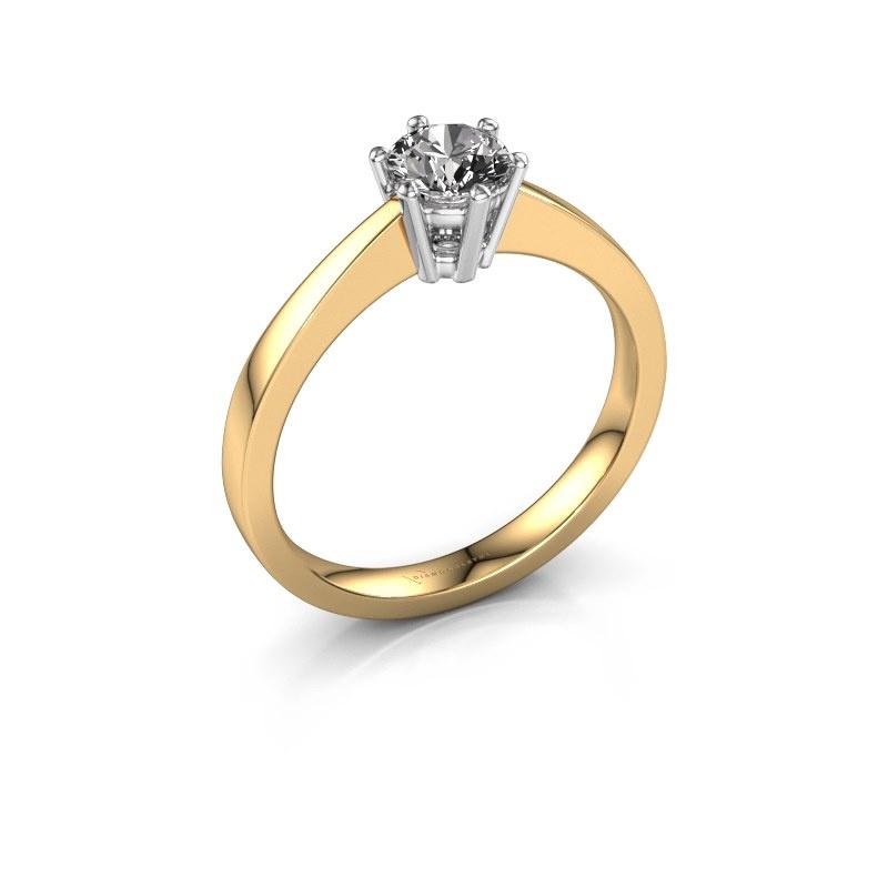 Bague de fiançailles Noortje 585 or jaune diamant 0.50 crt