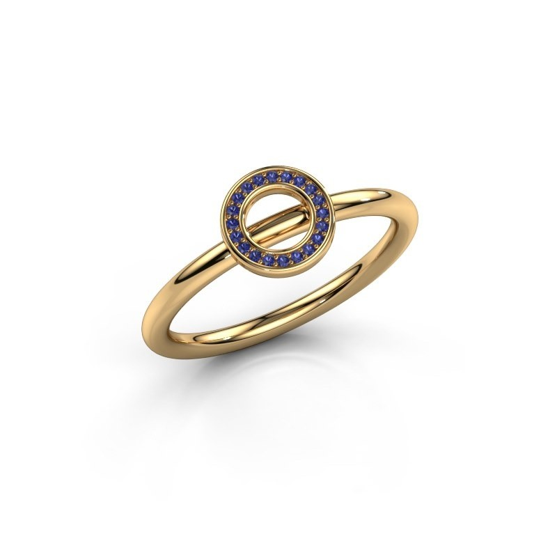 Ring Shape round small 585 goud saffier 0.8 mm