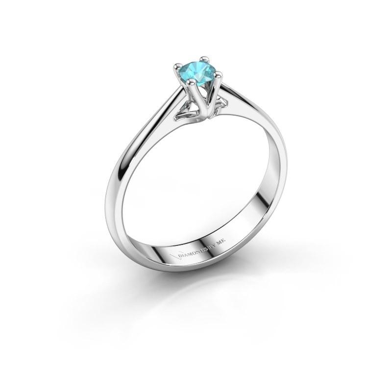 Engagement ring Janna 1 925 silver blue topaz 3.4 mm