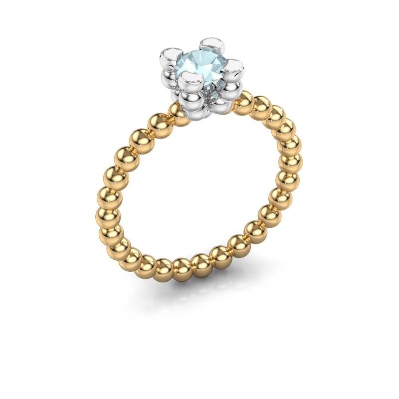 Ring Aurore 585 goud aquamarijn 5 mm