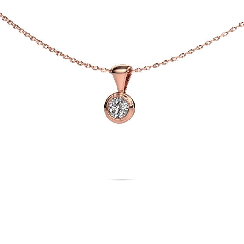 Ketting Lieke 375 rosé goud diamant 0.30 crt