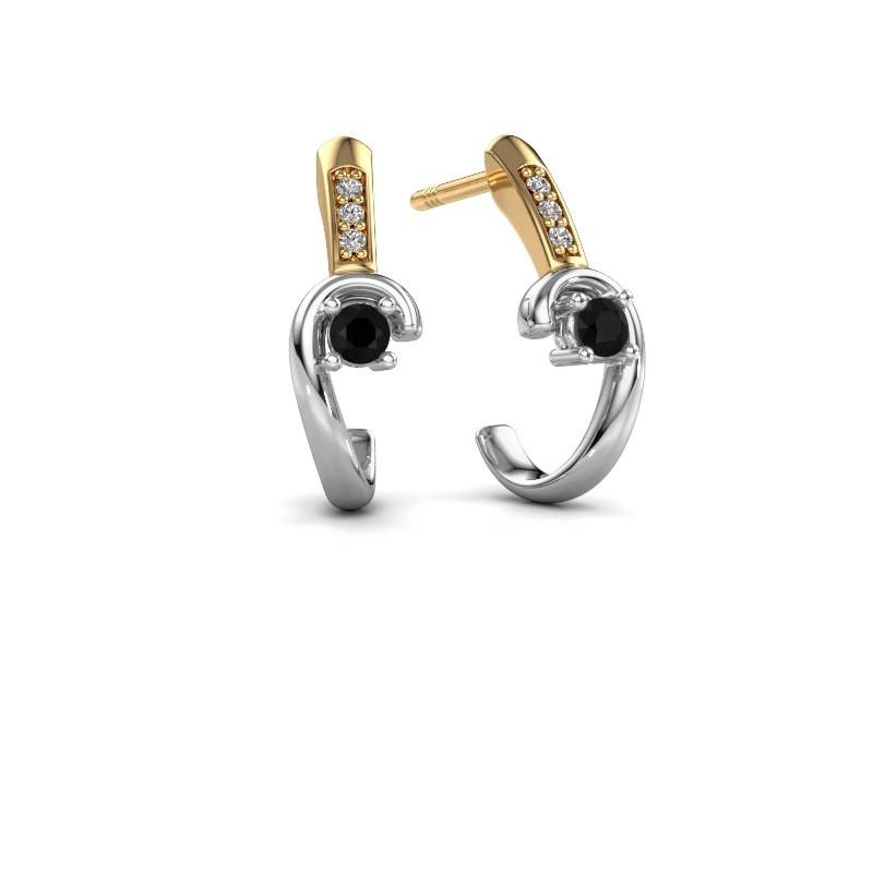 Earrings Ceylin 585 white gold black diamond 0.184 crt