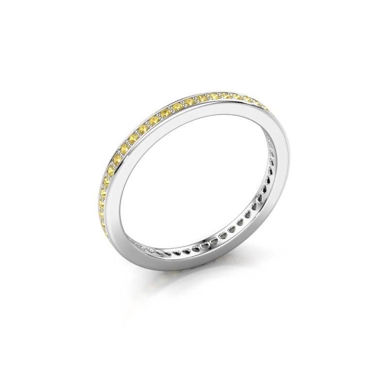 Aanschuifring Elvire 1 925 zilver gele saffier 1.1 mm