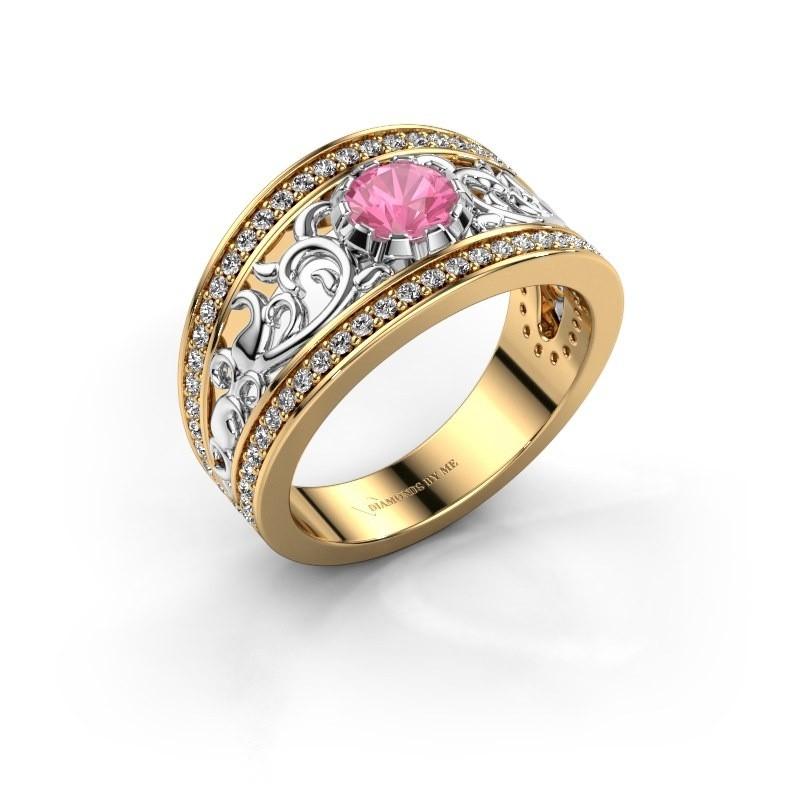 Ring Marilee 585 goud roze saffier 5 mm