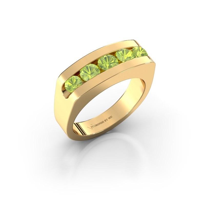 Men's ring Richard 375 gold peridot 4 mm