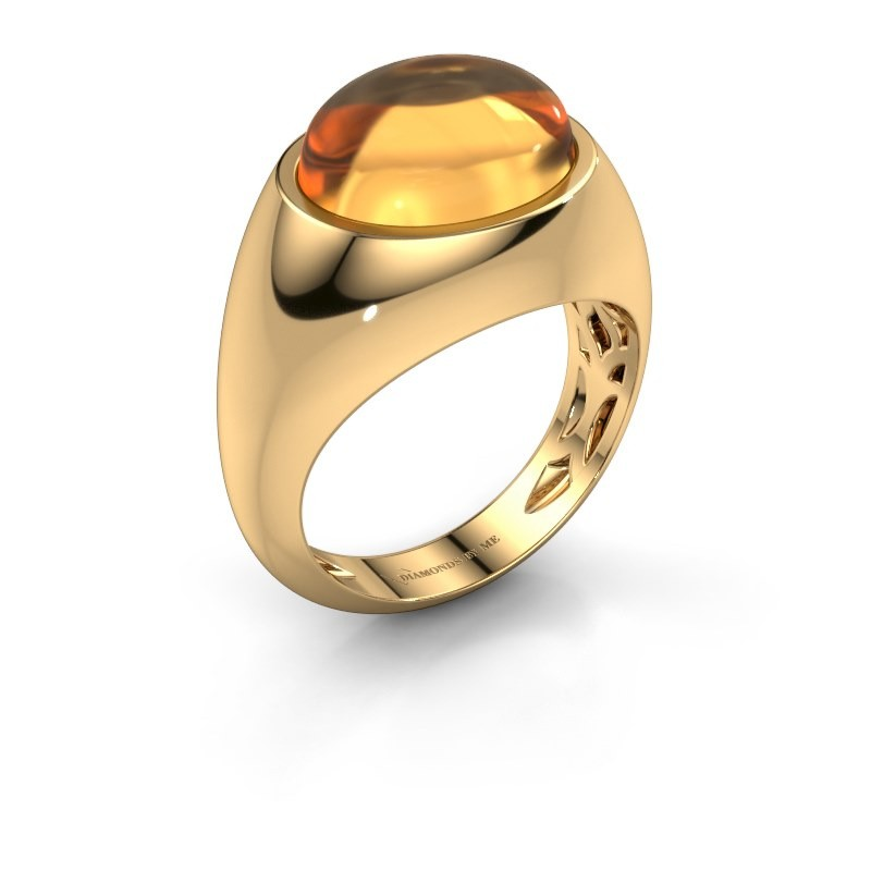 Bague Laurien 585 or jaune citrine 12x10 mm