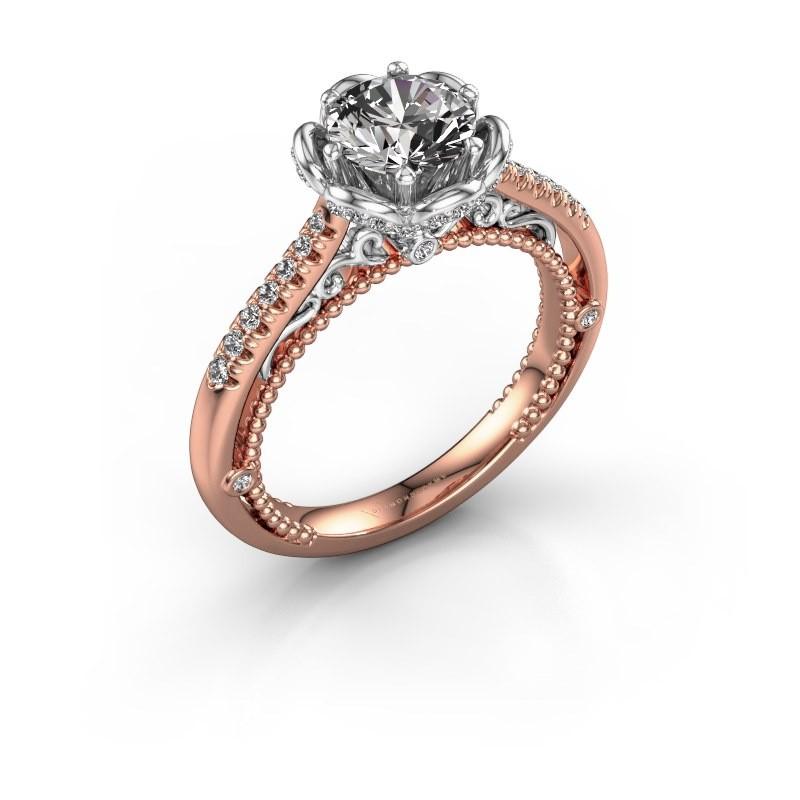 Verlobungsring Abbey 585 Roségold Diamant 1.277 crt