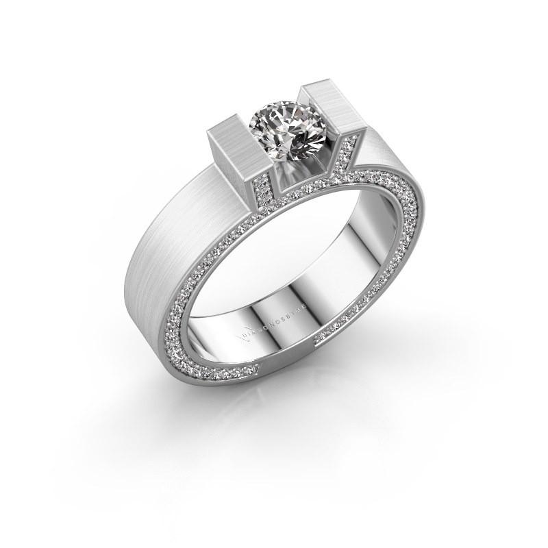 Ring Leena 2 585 witgoud diamant 1.08 crt