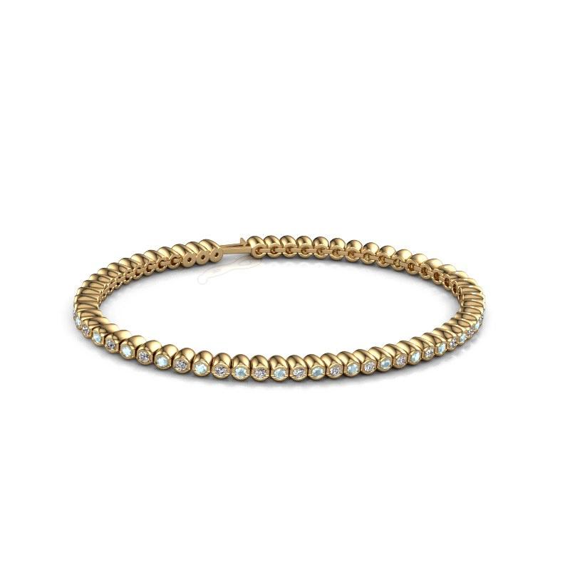 Tennisarmband Bianca 2 mm 375 goud aquamarijn 2 mm