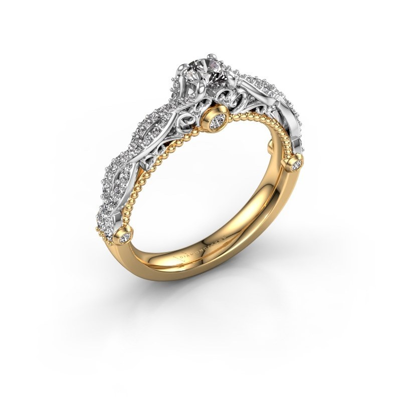Verlovingsring Chantelle 585 goud zirkonia 4 mm