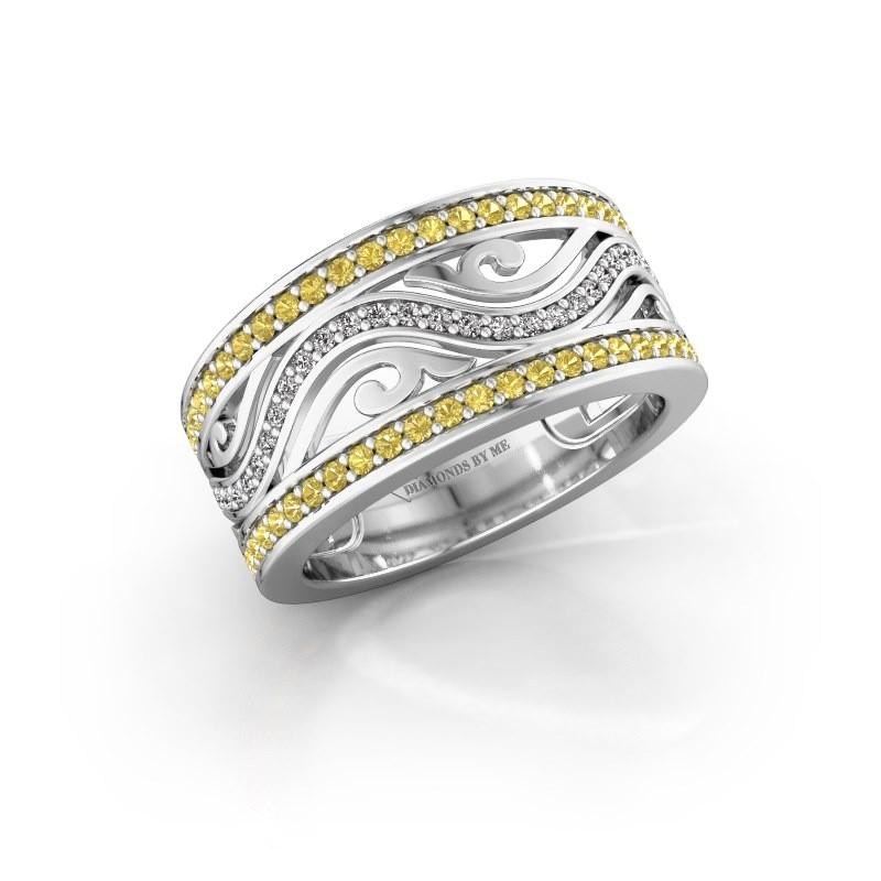 Ring Louvenia 925 silver yellow sapphire 1.2 mm
