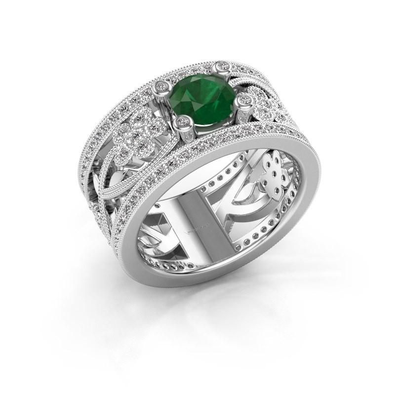 Ring Severine 950 platina smaragd 6 mm