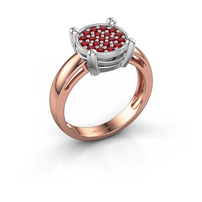 Ring Dina 585 Roségold Rubin 1.6 mm