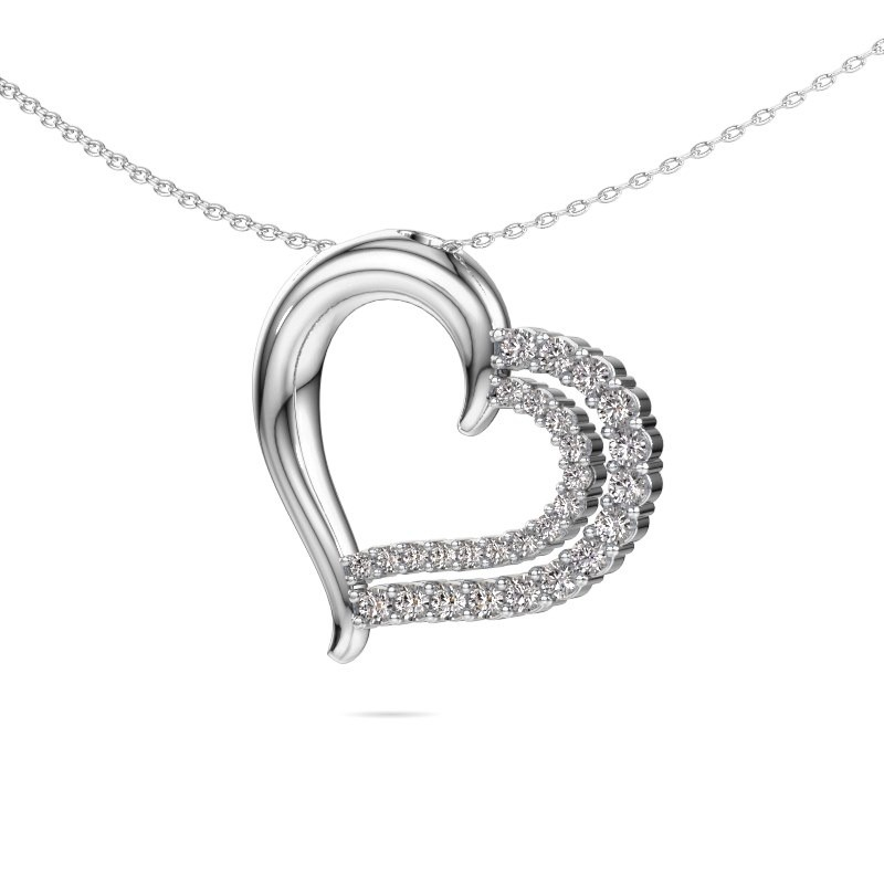 Necklace Kandace 585 white gold lab-grown diamond 0.56 crt