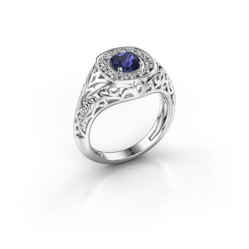 Men's ring Quinten 950 platinum sapphire 5 mm