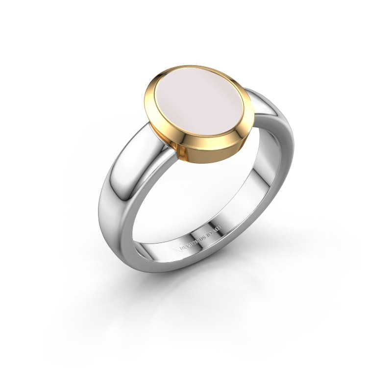 Signet ring Freeda 1 585 white gold red sardonyx 10x8 mm