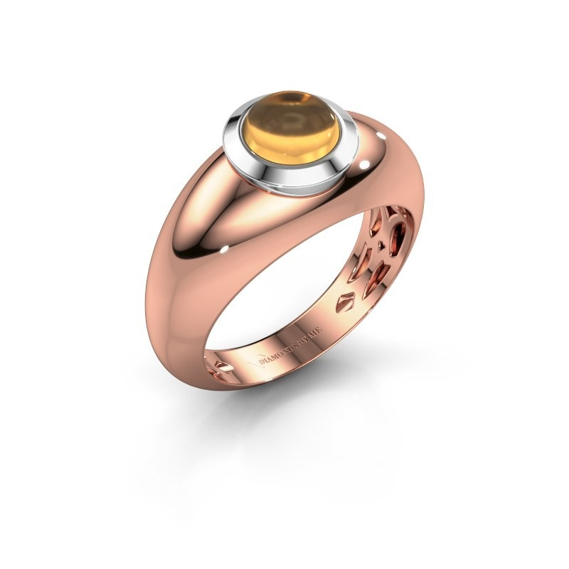 Ring Sharika 585 Roségold Citrin 6 mm