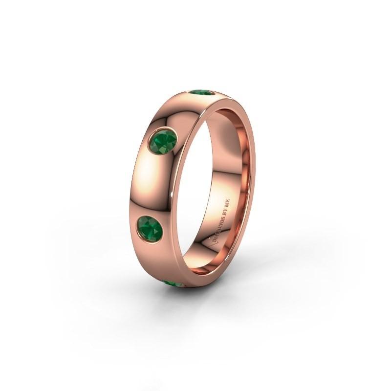 Ehering WH0105L25BP 375 Roségold Smaragd 3 mm ±5x2 mm