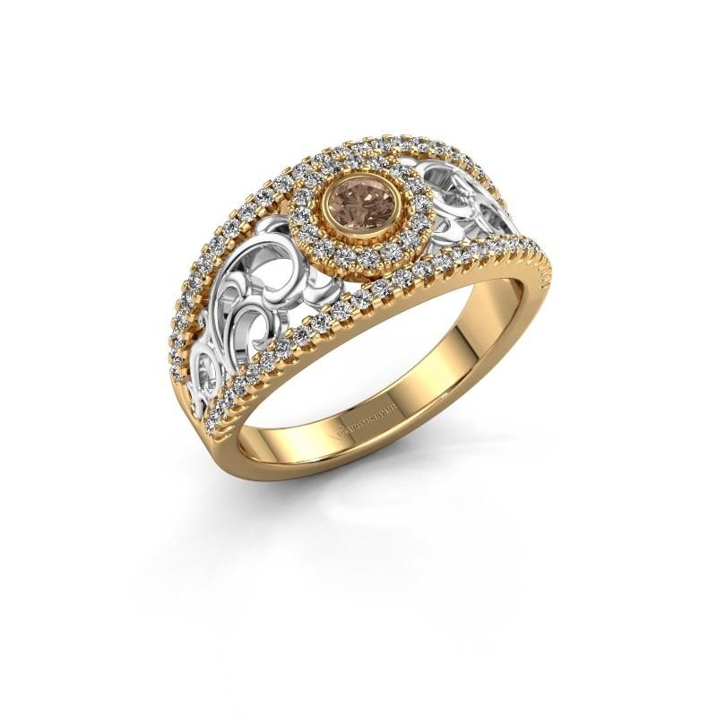Verlovingsring Lavona 585 goud bruine diamant 0.50 crt