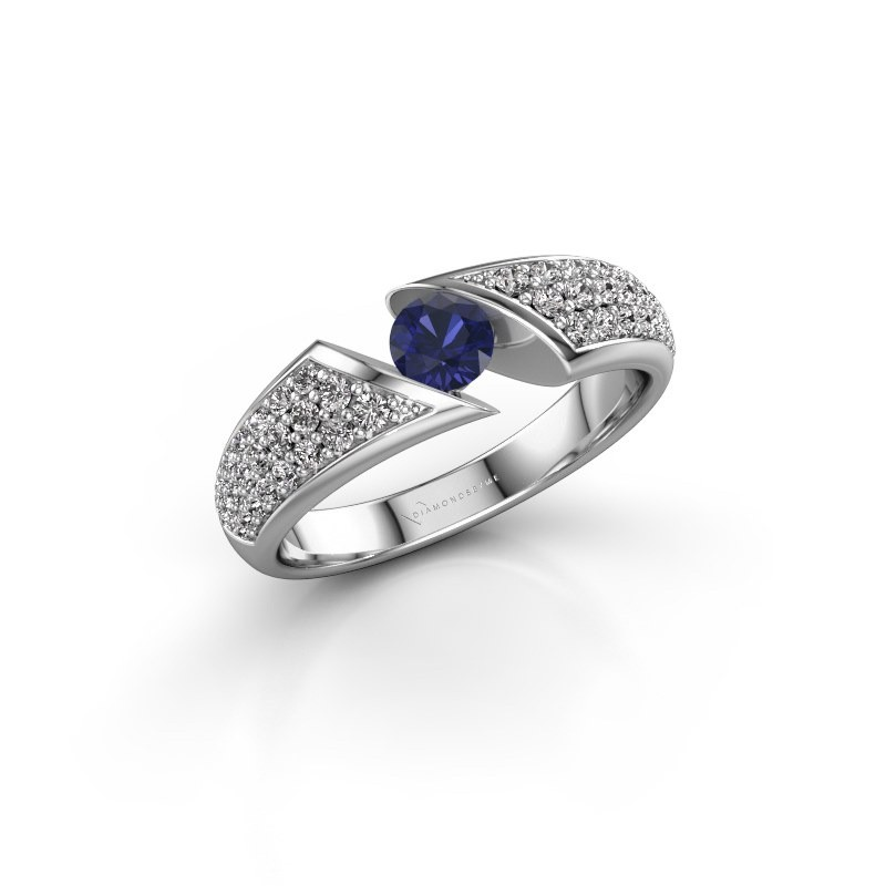 Engagement ring Hojalien 3 950 platinum sapphire 4.2 mm