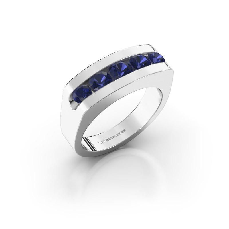 Men's ring Richard 950 platinum sapphire 4 mm