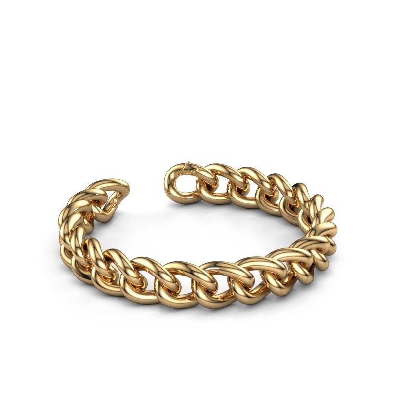 Cuban link armband ±12 mm 585 goud