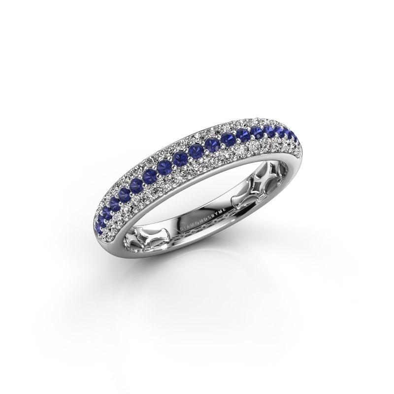 Ring Emely 4 925 zilver saffier 1.4 mm