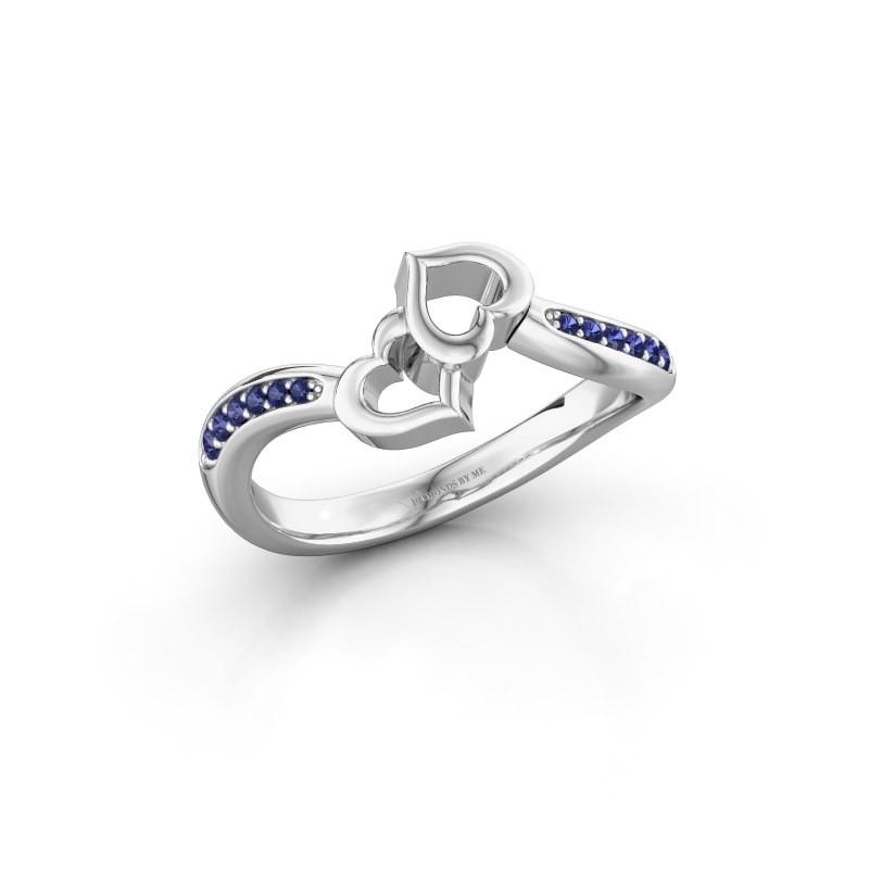 Ring Xaviera 950 platinum sapphire 1.5 mm