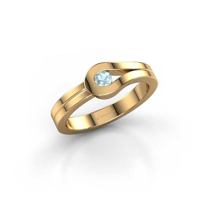 Ring Kiki 585 gold aquamarine 3 mm