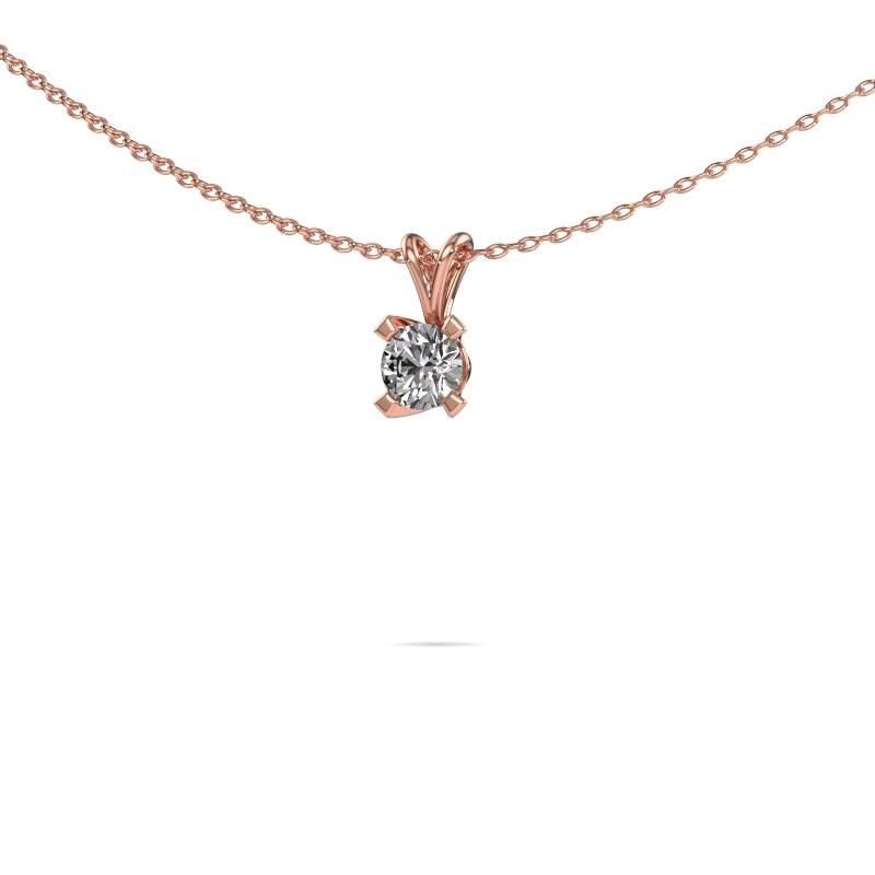 Hanger Eva 375 rosé goud diamant 0.30 crt