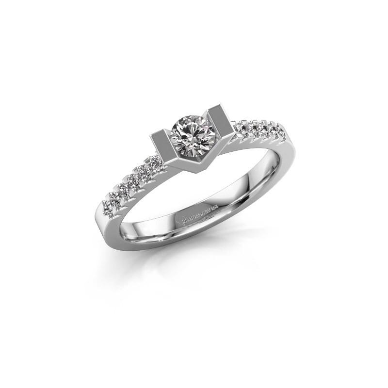 Verlovingsring Sherley 2 585 witgoud lab-grown diamant 0.43 crt
