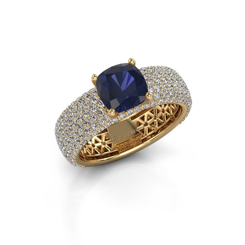 Engagement ring Darcy 375 gold sapphire 7 mm