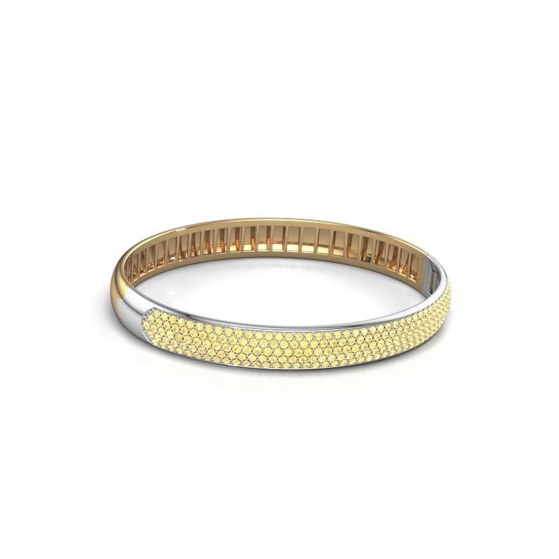 Slavenarmband Emely 8mm 585 goud gele saffier 1.4 mm