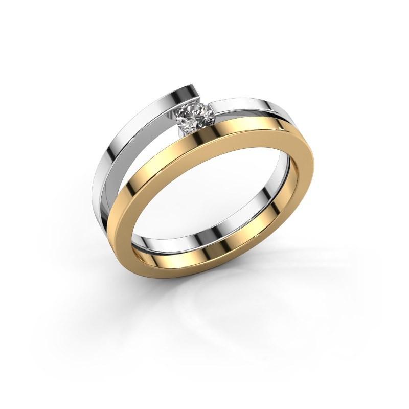Ring Sandy 585 goud zirkonia 3.4 mm