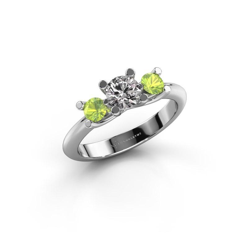 Ring Mirthe 585 white gold zirconia 5 mm