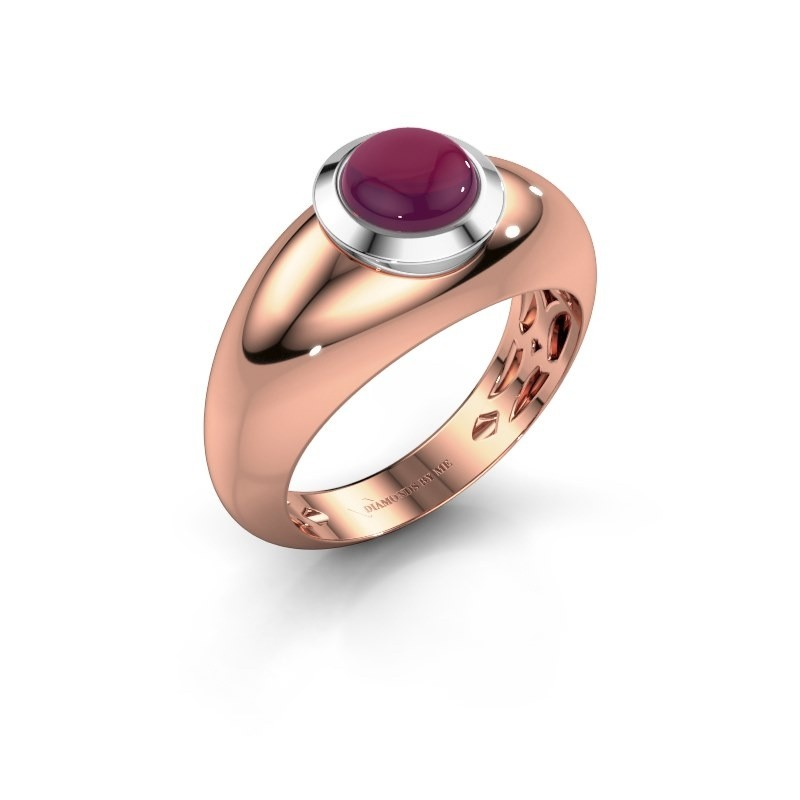 Ring Sharika 585 rosé goud rhodoliet 6 mm