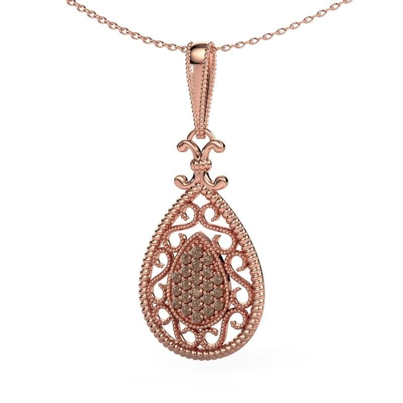 Anhänger Tammie 585 Roségold Braun Diamant 0.27 crt