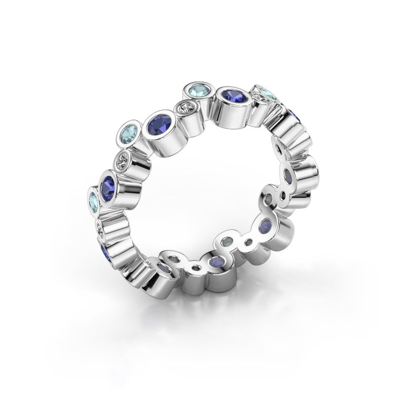 Ring Tessa 585 witgoud saffier 2.5 mm