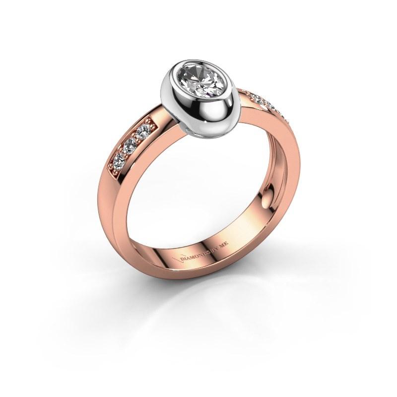 Ring Charlotte Oval 585 rose gold diamond 0.62 crt