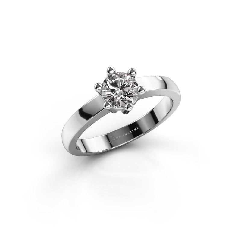 Verlovingsring Luna 1 925 zilver diamant 0.50 crt