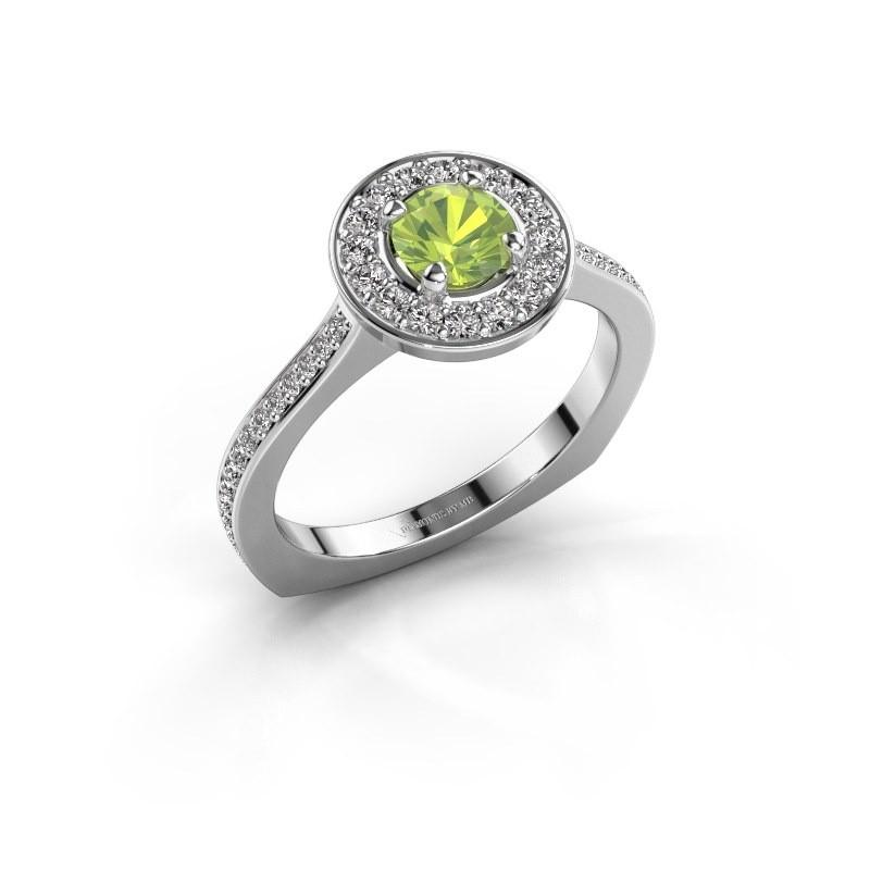 Ring Kanisha 2 950 platina peridoot 5 mm