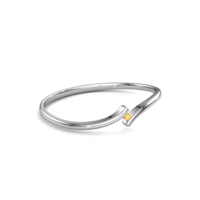 Bangle Amy 950 platinum citrin 3.4 mm