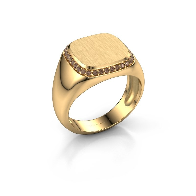 Heren ring Jesse 1 585 goud bruine diamant 0.255 crt