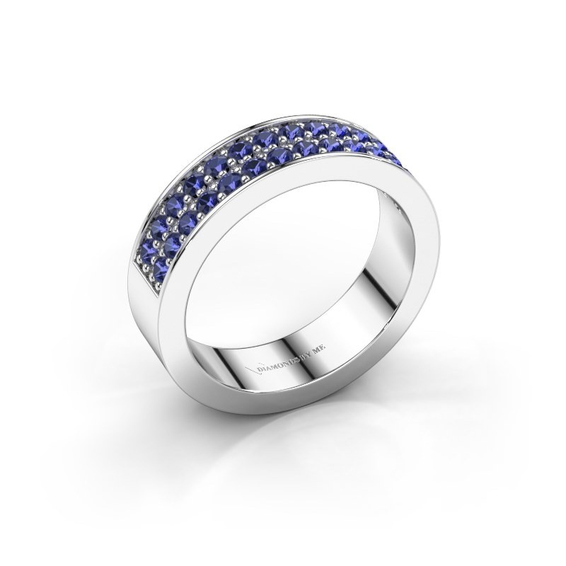 Stackable ring Catharina 6 950 platinum sapphire 1.7 mm