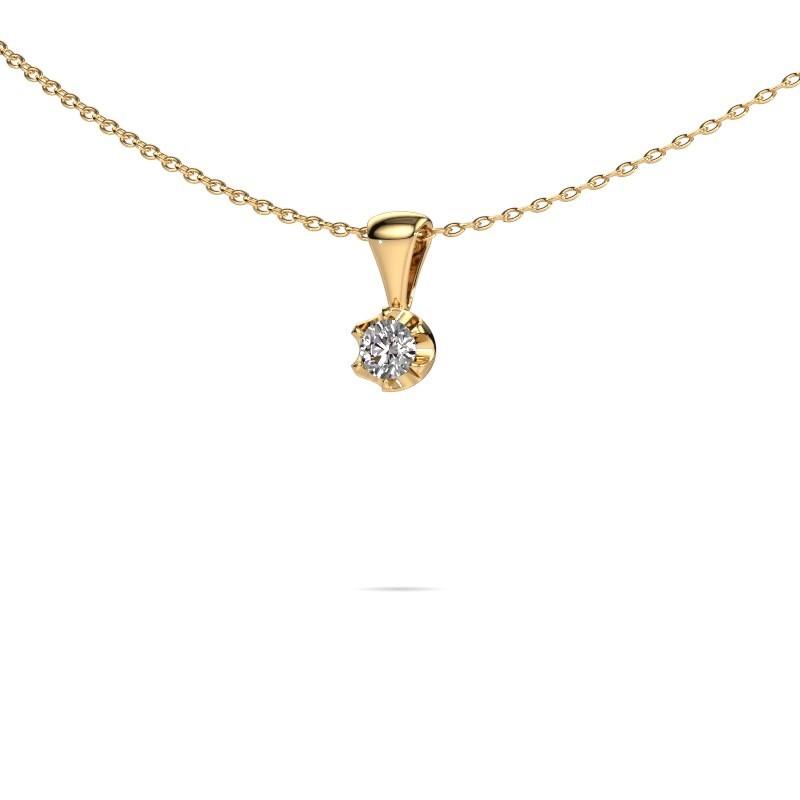 Necklace Fran 585 gold diamond 0.15 crt