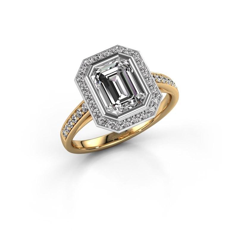 Verlovingsring Noud 2 EME 585 goud lab-grown diamant 2.074 crt