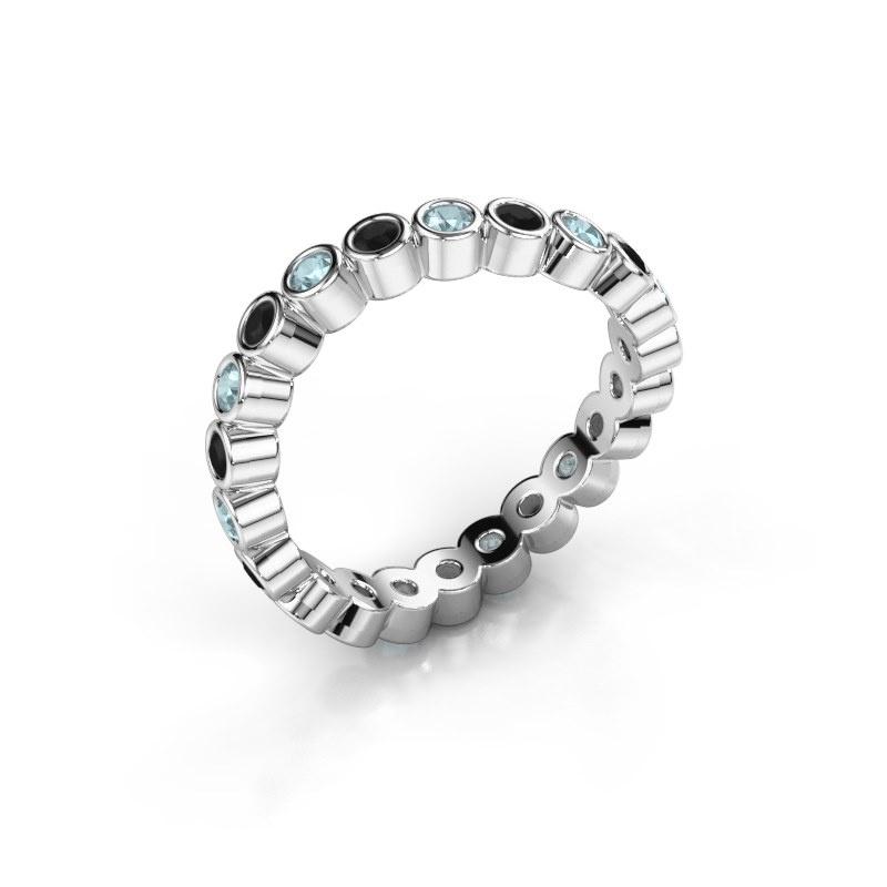 Ring Liz 925 zilver zwarte diamant 0.396 crt