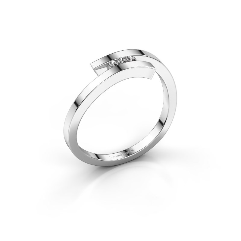 Ring Juliette 585 white gold lab grown diamond 0.042 crt